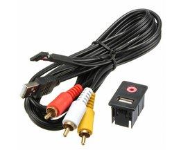 RCA-kabel med USB