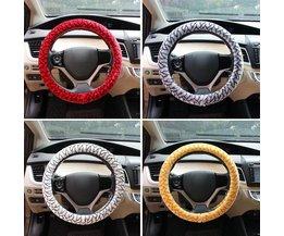 Bilhjulskåpa i färger röd och vit