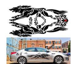 Wolf Klistermärken För Bilar