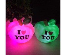 Romantisk LED nattljus i form av en äpple