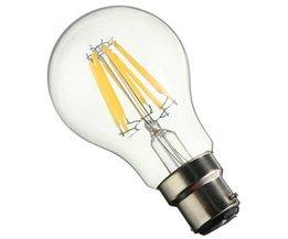 Vintage B22 A60 LED-lampa 8W