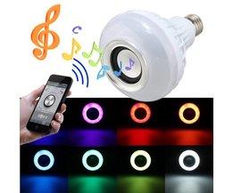 LED-lampa högtalare med Bluetooth