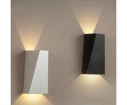 LED-dekoration Vägglampa Vit eller Svart