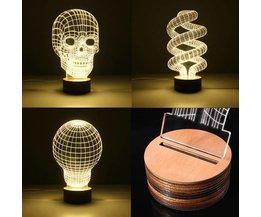3D LED-lampa i flera modeller