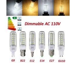 Dimbar LED-lampa med olika beslag
