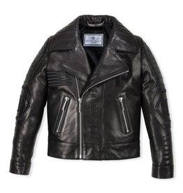 PHILIPP PLEIN Leather Biker Black Evil
