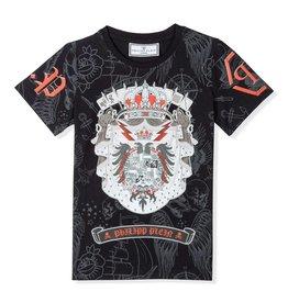 PHILIPP PLEIN T-shirt Round Neck SS Dacio Stemma