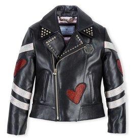 PHILIPP PLEIN Leather Biker Bright Love