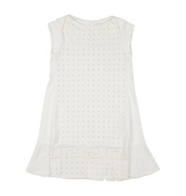 YOUNG VERSACE Logo Dress with Rhinestones