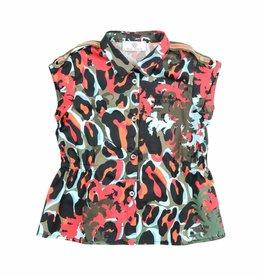 YOUNG VERSACE Camoupard Cotton Shirt