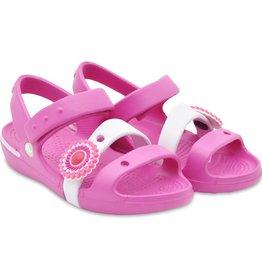 CROCS Girls Keeley Petal Charm Sandal