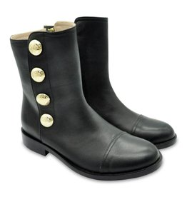 YOUNG VERSACE Girls Leather Boots