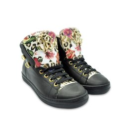 Roberto Cavalli Girls Boots with Floral Tongue