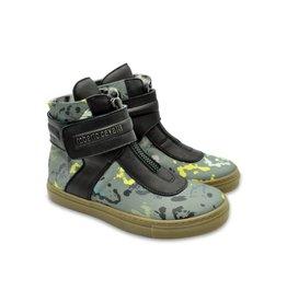 Roberto Cavalli Leather Khaki Boots