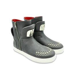 Cesare Paciotti Grey Boots Metal Details