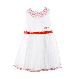 Baby A White Dress with Red Belt