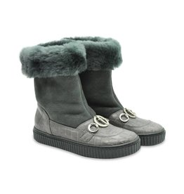 Cesare Paciotti Girls Grey Winter Boots