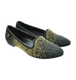 Cesare Paciotti Black Luxe Ballet Shoes