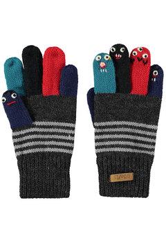 Puppet gloves dark heather 4-6 jaar