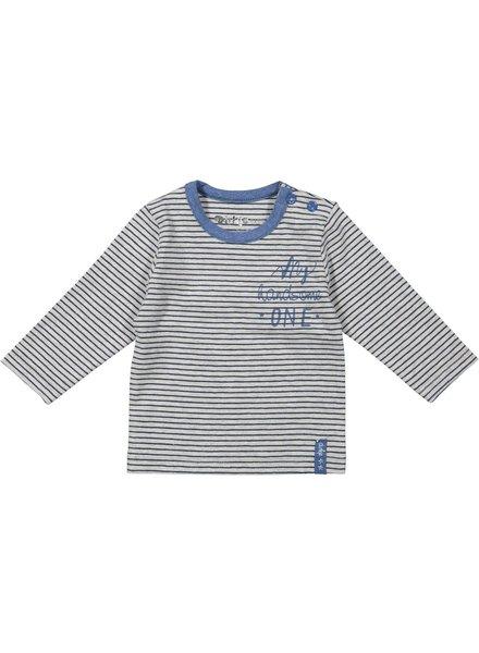 Dirkje Dirkje Basics top grey melee + stripe
