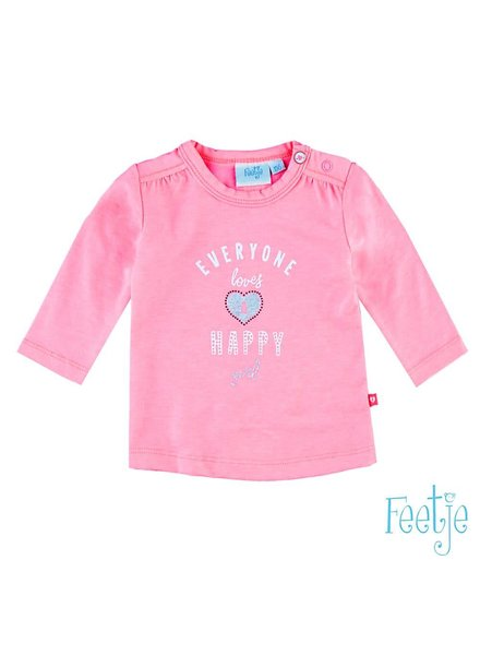 Feetje 51601015 T-shirt l/m everyone happy Loved