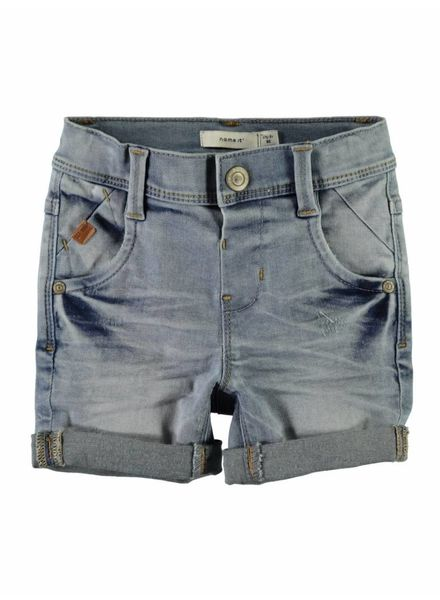 Name it 13153518 Nmmsofus short light blue denim