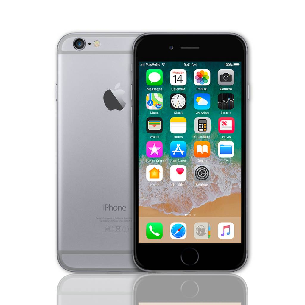 refurbished apple iphone 6 16gb space grey koop bij. Black Bedroom Furniture Sets. Home Design Ideas