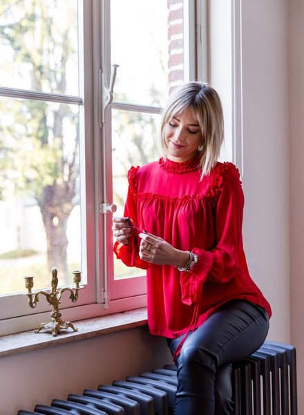 Fall Blouse Red