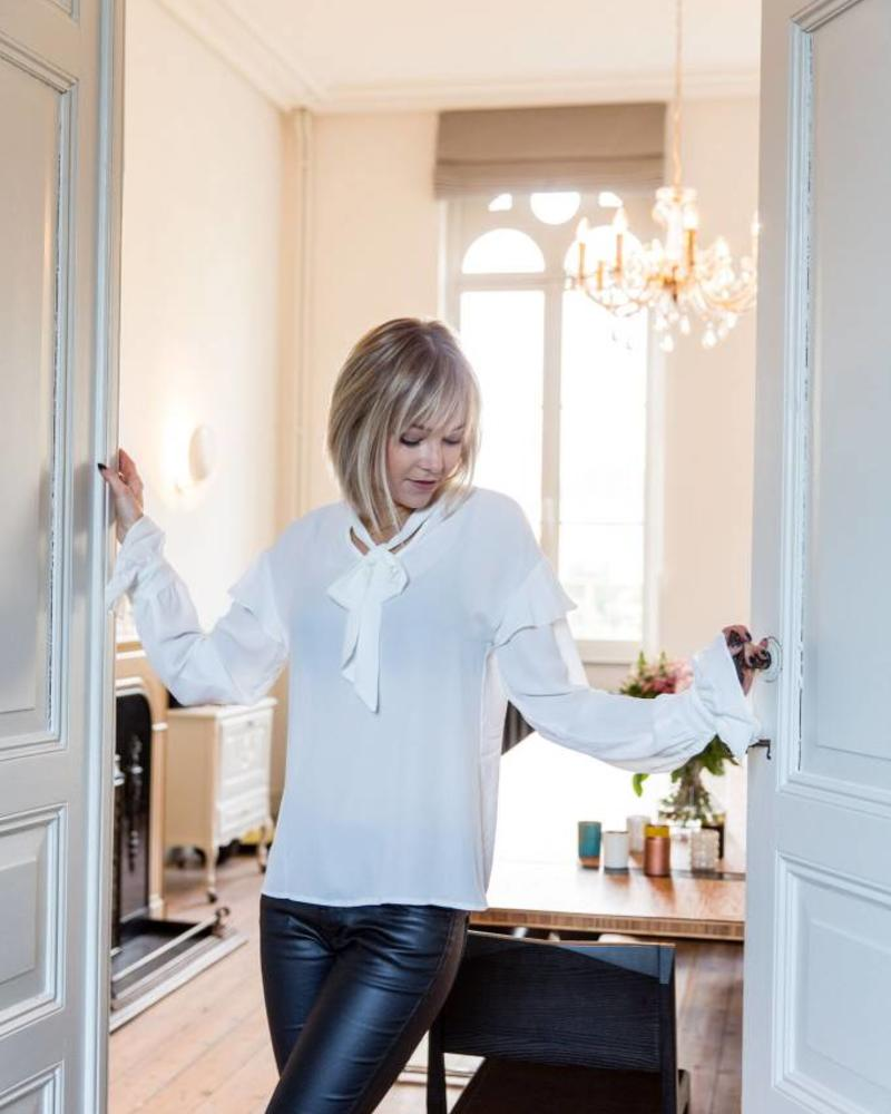 White Evening Blouse