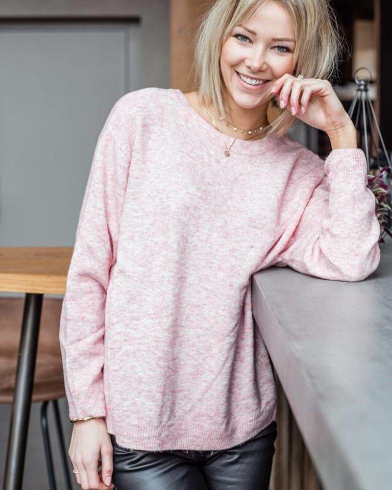 Pink Oversized Sweater