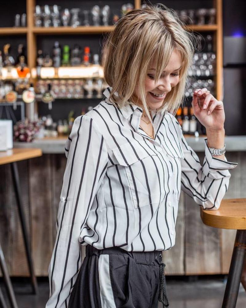 Stripes & Pockets White