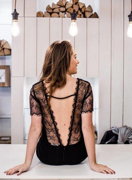 Open Lace Back Jumpsuit