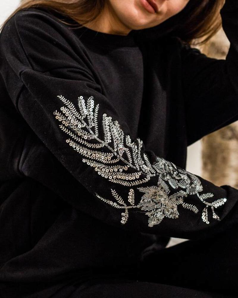Silver Sequin Sleeves