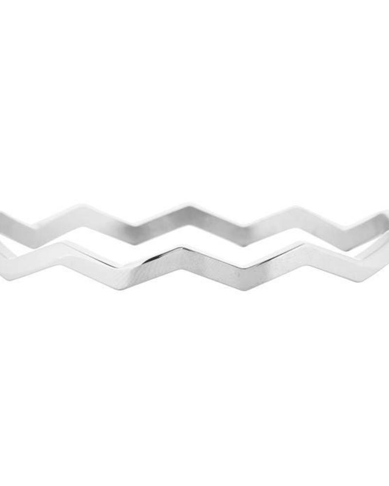 Wave Bangle Silver
