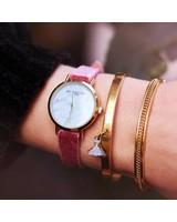 Velvet Marble Watch - Pink