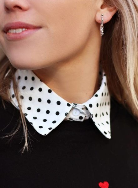 Polkadot Collar White