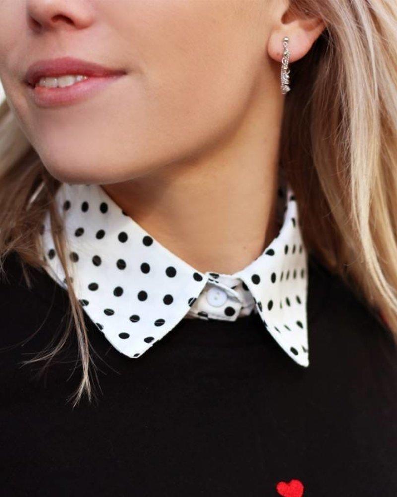 Polkadot Collar White