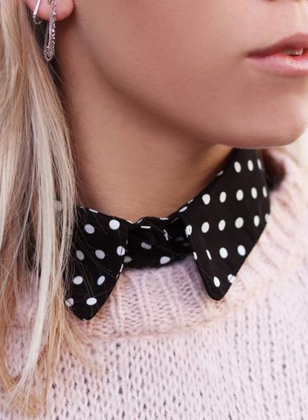 Polkadot Collar Black