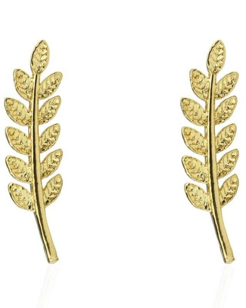 Feather Stud Gold