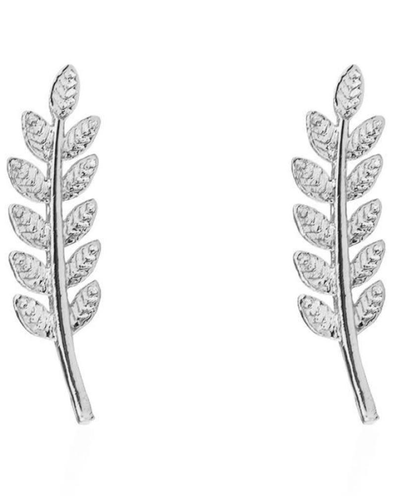 Feather Stud Silver