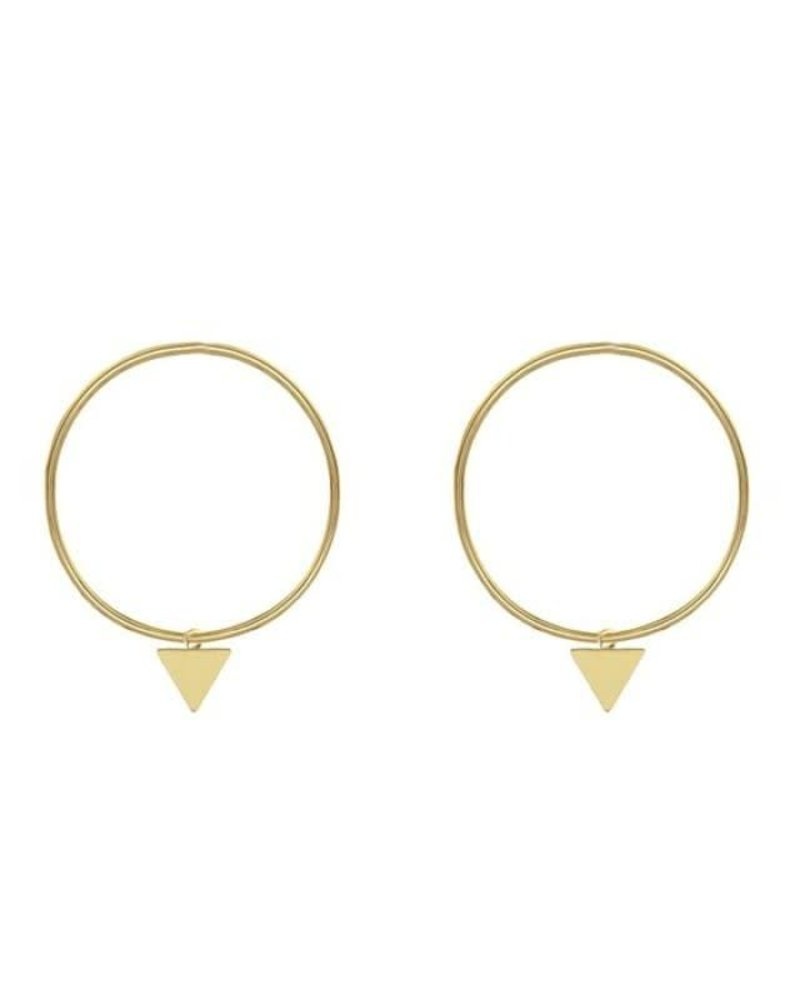 Triangle Hoop Gold