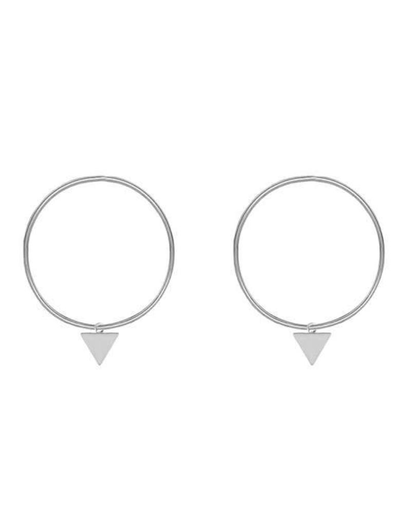 Triangle Hoop Silver