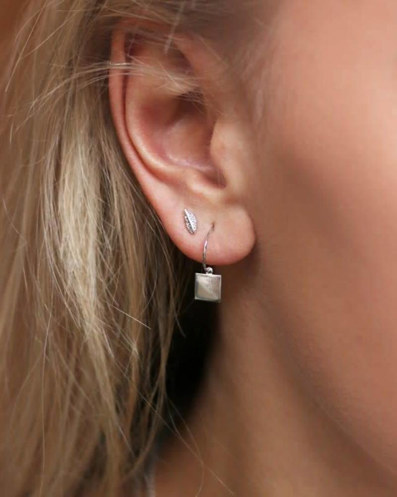 Square Earring Silver