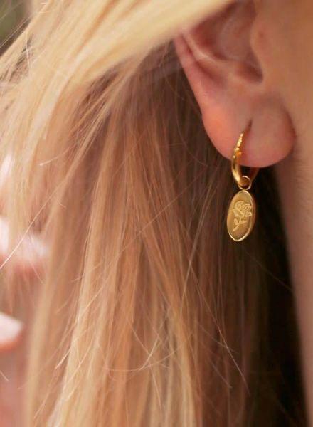 Charm Earring Rose Gold
