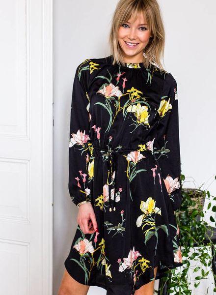 Flower Satiny Dress