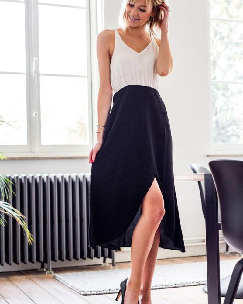 Casual Evening Dress Bl&Wh