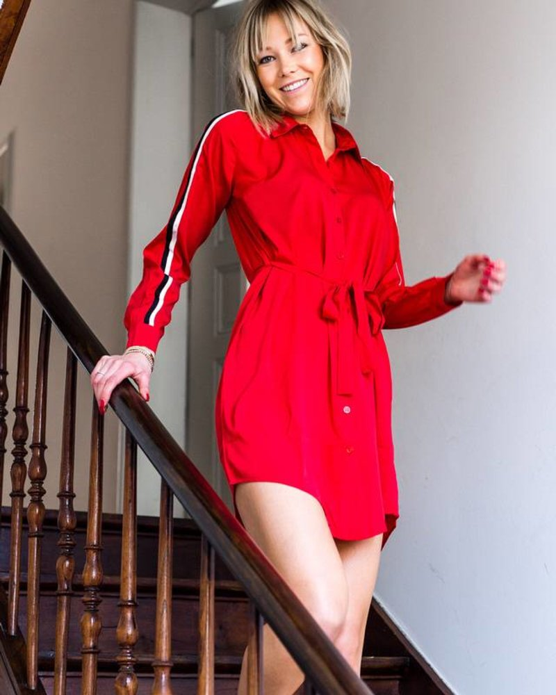 Sporty Casual Dress Red