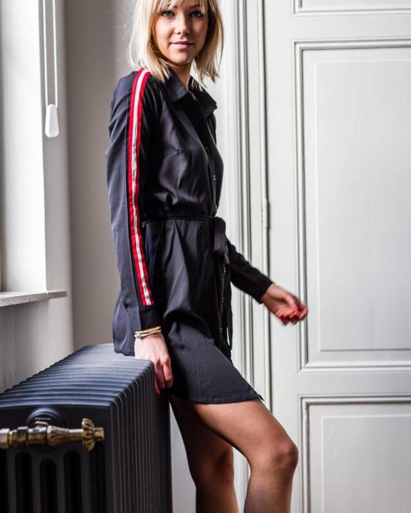 Sporty Casual Dress Black