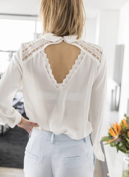 Collar White Blouse