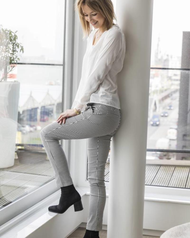 Black White Pants